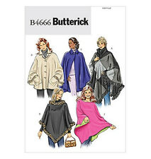 Sew & Make Butterick B4666 SEWING PATTERN - Womens PONCHOS SHORT CAPES COATS