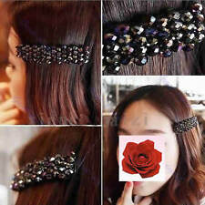 Fashion Womens Korean Crystal Rhinestone Barrette Hairpin Hair Clip Accessories