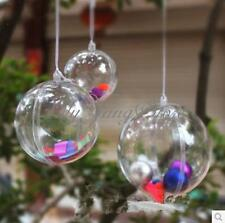 10cm Plastic Clear Christmas Hanging Ball Round Bauble Ornament Xmas Tree Decor