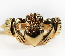 Vintage 1970s Irish Claddagh Gold Tone Ring Made in USA New Old Stock #R1768