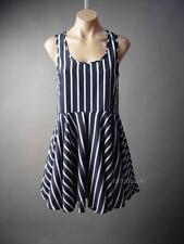 Urban Outfitters Sparkle&Fade Navy Blue White Stripe Sailor 113 mv Dress S M L