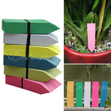 "New 100X 4"" Long Plastic Plant Seed Labels Pot Marker Nursery Garden Stake Tags"