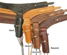 New! Leather Holster Gun Belt - Double Holster .45 Caliber Available in 4 Colors
