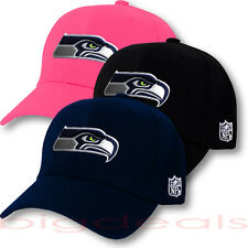 Seattle Seahawks Cap Velcro NFL Logo Hat Embroidered Emblem Football On Field