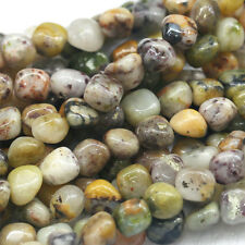 """Natural Genuine Purple Tree Moss Agate Nugget Loose Beads Free Form 16"""""""