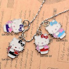 Valentine's Gift Cupid Hello Kittyt Enameled Jewelry Gilrs 2CM Pendant Necklace
