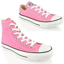 CONVERSE ALL STAR CT M9006 M9007 PINK HI LO TOP CANVAS LACE TRAINERS SHOES SIZE