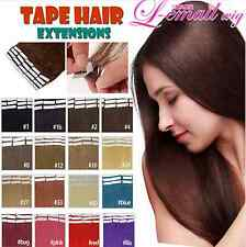 40pcs/100g 100% PU Tape in straight Remy Human Hair Extensions 12inch-26inch