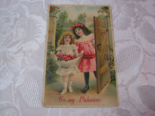 EARLY 1900'S VICTORIAN VALENTINE EMBOSSED POSTCARD GERMANY  T*