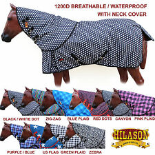 1200D FULL HORSE WINTER TURNOUT BLANKET NECK COVER HEAVY DUTY RIPSTOP WATERPROOF