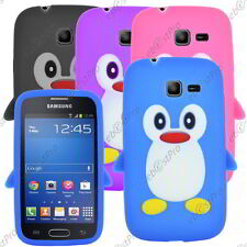 Coque Housse Etui Silicone Souple Motif Pingouin Samsung Galaxy Trend Lite S7390