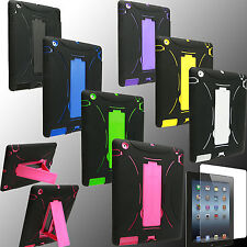 Case for Apple iPAD 2 3 4 New Cover Stand PC Silicone Screen Protector 2nd