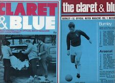 Burnley HOME programmes 1970s FREE P&P UK Choose from list