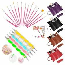 20pcs Nail Art Design Set Dotting Painting Drawing Polish Brush Pen Tools US