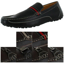 Moda Essentials Men's Leather Loafers Slip On Shoes Casual