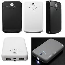 Dual USB External LED Portable Battery Power Bank Charger For Cell Phone Tablet