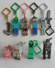 2015 New Hot Minecraft Hanger Game Creeper Figure Backpack Keyring Clip Keychain