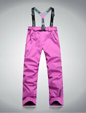 Women 2in1 Fleece Lined Trousers Warm Waterproof Ski Snowboard Outdoor Pants