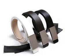 Collection Men Stylish Faux Leather Metal Buckle Belt Girdle Waistband gift-fm