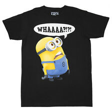 Despicable Me Minion WHAAAA?!?! Adult T-Shirt - Black