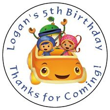 TEAM UMIZOOMI Custom Birthday Party Favor Cupcake Stickers Personalized Labels