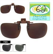 New Flip Up Hinged Sunglasses Smoke Lens Polarized Clip On Very Handy ct705