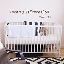 Bible Verse Wall Decal I am a Gift From God Psalm Quote Vinyl Baby Nursery Decor