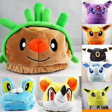 Pokemon Center Fennekin Chespin Froakie Soft Plush Cap Cosplay Hat Multi-Styles