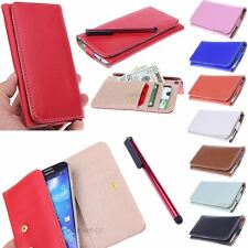 Fashion Slim Leather Wallet ID Pouch Case for Samsung Galaxy Light T399 NEW