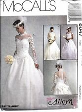 8047 UNCUT Vintage McCalls Sewing Pattern Misses Bridal Gown Wedding Dress OOP
