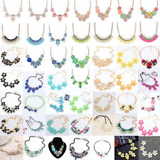 Charm Womens Flower Choker Bib Statement Necklace Collar Chain Pendant
