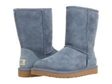 Nib UGG Australia Woman's Dolphin Blue Suede Leather Classic Short Boots