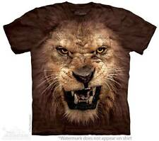 BIG FACE ROARING LION ADULT T-SHIRT THE MOUNTAIN