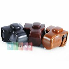 Camera Leather Case Bag For OLYMPUS Pen E-PL7 EPL7 14-42mm Lens 3 Colors
