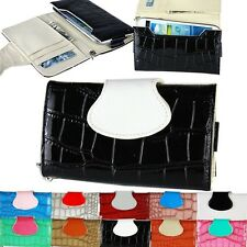 Black Wallet Leather Handbag Phone Case Cover for Galaxy S3 S4 iPhone 4S 5G 5S
