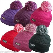 LADIES MENS THERMAL 3M THINSULATE CHUNKY KNITTED BEANIE WINTER WARM BOBBLE HAT