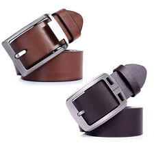 1pcs Mens Leather Vintage Classic Jean Pin Buckle Belts Brown Vogue L5YG