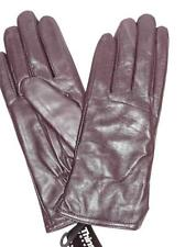 American Inspired Ladies Top Quality Sheep Thinsulate Leather Gloves,Dark Purple