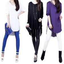 Fashion Women's T-Shirt Chiffon Asymmetric Hem Batwing Sleeves Loose Blouse Tops
