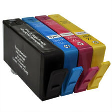 Remanufactured Black & Colour Chipped Ink Cartridge 4 Pack for HP