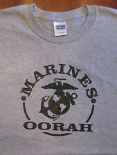 MARINES, OORAH, PT-T-Shirts Military Style Physical Training Cotton Tees