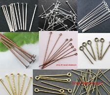 100pcs Nice Silver/Golden Head/Eye/Ball Pins Finding 21 Gauge any size to choose