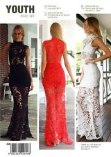 2015 Women's Formal Lace Prom Dress Party Sleeveless Long Evening Dress