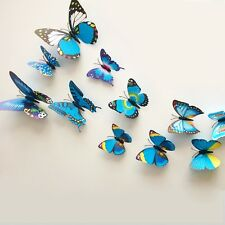 12pcs 3D Schmetterling Sticker Art Design Aufkleber Wandsticker Wanddeko mode