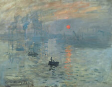 Impression Sunrise by Claude Monet Giclee Fine Art Print Repro on Canvas