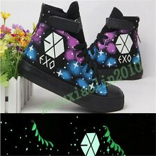 New EXO High Sneaker Casual Luminous Canvas Shoes Winter Skateboard Starry Hot