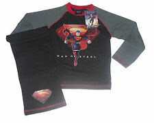 BOYS PYJAMAS SUPERMAN 4-10 YEARS LONG REDUCED TO CLEAR