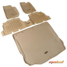 Rugged Ridge Floor Liner Kit, Tan, 07-15 Jeep 4-Door Wrangler # 13988.04
