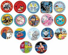 8 PAPER PLATES (23cm) LICENSED CHARACTER DESIGNS RANGE (Birthday Party){Set1}