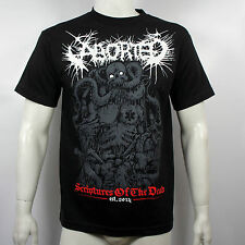 Authentic ABORTED Band Scriptures Squid Demon Logo Death Metal T-Shirt S-2XL NEW